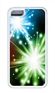 Colorful Fireworks TPU Case Cover for iPhone 5C White by lolosakes