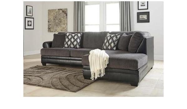 Phenomenal Amazon Com Benchcraft Kumasi 32202 66 17 2 Piece Sectional Uwap Interior Chair Design Uwaporg