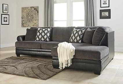 Amazon.com: Benchcraft Kumasi 32202-66-17 2-Piece Sectional Sofa ...