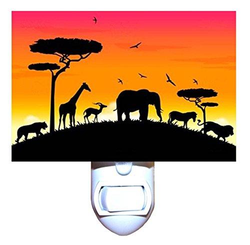 African Jungle Sunset Decorative Night Light