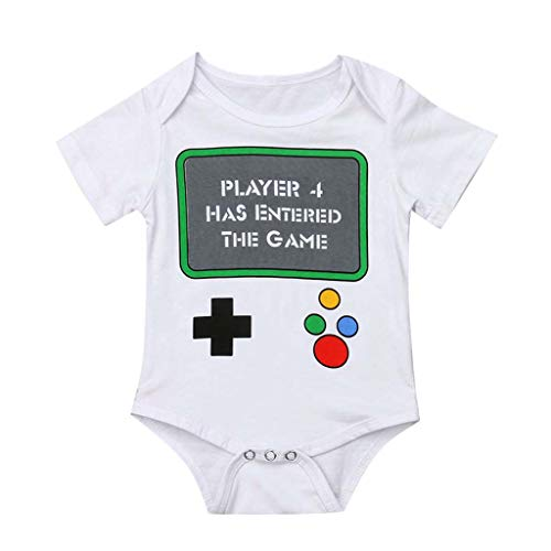 WOCACHI Toddler Newborn Baby Girls Boys Letter Printed Tops Bodysuit Romper Clothes 0-3M 0-6M 3-6 Mos 6-9M 9-12M 6-12M 12-18M 18-24M 0-3T 0-24 Months 2 Years and Up 2T 3T