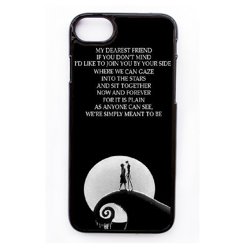 Coque,Apple Coque iphone 7 (4.7 pouce) Case Coque, Generic Nightmare Before Christmas Quotes Cover Case Cover for Coque iphone 7 (4.7 pouce) Noir Hard Plastic Phone Case Cover