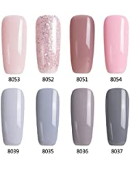 Modelones Gel Nail Polish Set - 8 tiny bottles, Soak...