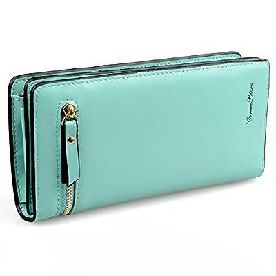 Gottowin Women PU Leather Wallet Clutch Handbag Zipper Organizer Card Holder