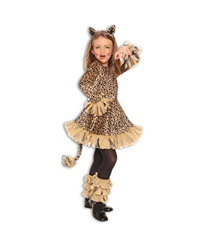 Lovely Leopard Jungle Cheetah Animal Girls Halloween Costume]()