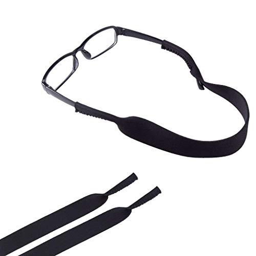 ewinever 2-Pack Adjustable Kids Neoprene Eyewear Retainer,Child Sunglass & Sunglasses Holder Strap Cord for Childrens Eyeglasses (Black) (Elastic Strap For Kids Glasses)