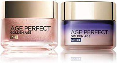 L'Oréal Paris Age Perfect Golden Age Set de Crema de Día Fortificante de Rosas y Crema de Noche Fortificante, Antiarrugas y Luminosidad, Pieles Maduras y Apagadas, 50 ml cada una