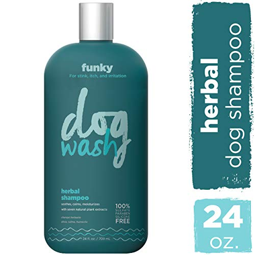 Dog Wash Herbal Extract Shampoo for Dogs - Formulated with Natural Plant Extracts to Heal, Calm & Soothe Skin - Reduce Bacteria & Fungus That Cause Odor, Itching, Eczema in Dogs (24 oz)