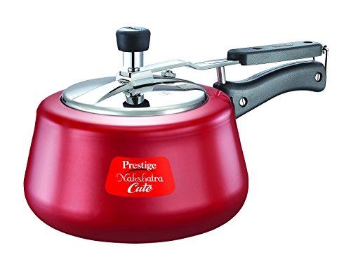 Prestige Nakshatra Aluminium Pressure Cooker, 2 Litres, Red Price & Reviews