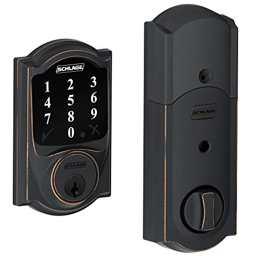 Schlage Lock Company BE468CAM716 Connect Camelot Touchscreen Deadbolt, Aged Bronze