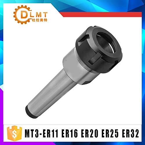 Anncus ER32 ER25 ER20 ER16 ER11 MTA3 MT3 Shank M12 Drawbar Milling Chuck Holder Fixed CNC Milling Lathe - (Hole Diameter: MTB3-ER16)