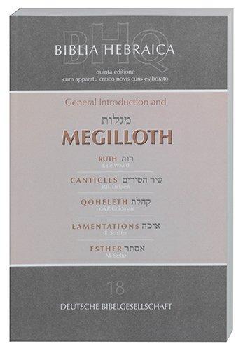 Biblia Hebraica Quinta: General Introduction and Megilloth (Deutsche Bibelgesellschaft) (Multilingual Edition)