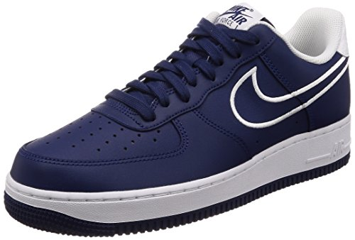 Leather Air Force NIKE Blue '07 White Void Herren 400 Blau Sneaker 1 wXaUU7q