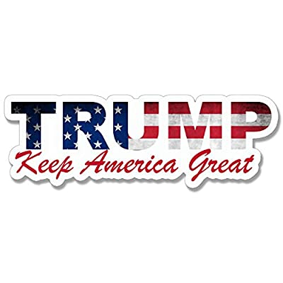 Trump USA Lettering Shaped Keep America Great Bumper Sticker (MAGA KAG 2020): Automotive