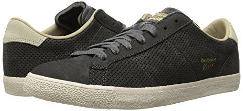 outlet store 04e35 6107e Onitsuka Tiger Lawnship Classic Tennis Shoe,Dark Grey/Dark ...