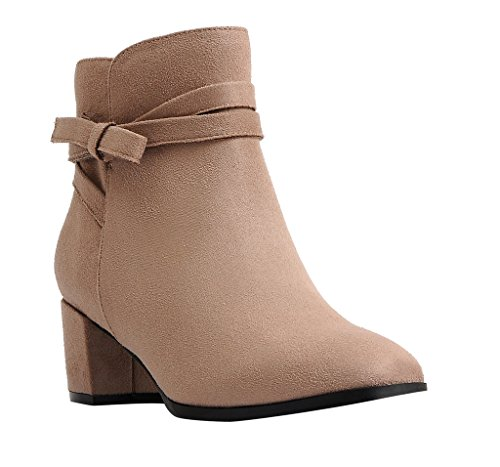 IMPO EMAN Casual Bootie , Stucco Faxu Suede Stretch, 8 B(...