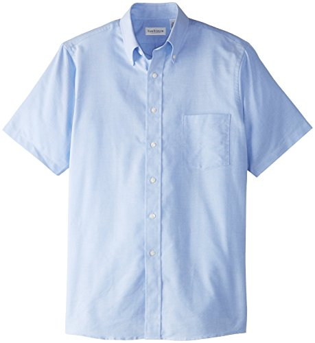 (Van Heusen Men's Short Sleeve Oxford Dress Shirt, Blue, 3X-Large)