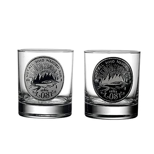 Ek Do Dhai Wanderlust Whiskey Glass Set of 2