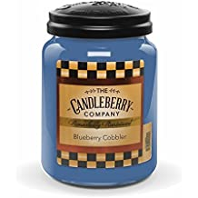 Candleberry BLUEBERRY COBBLER, Fine Fragrance Candle For The Home, Large Glass Jar, 26 oz