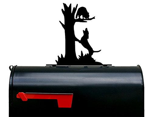 NewnanMetalWorks Coonhound and Racoon Mailbox Topper/Sign by NewnanMetalWorks