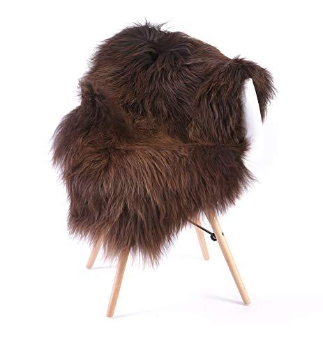 ESTRO | Natural Colour Genuine Icelandic Sheepskin Lambskin Rug | Long Wool| Luxurious | Colour Variety | ESN (L, Colour 1) (Genuine Rug Lambskin)