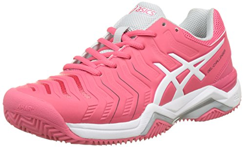 Asics Women's Gel-Challenger 11 Clay Tennis Shoes, Scuro Blu/Rosa Red (Rouge Red/White/Glacier Grey 1901)