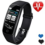 Smart Watch Touchscreen Fitness Tracker with HR Blood Pressure Monito Pedometer Weather Calorie Counter Sleep Monitor Waterproof Smart Sports Watch for Woman Birthday Gifts Android iOS