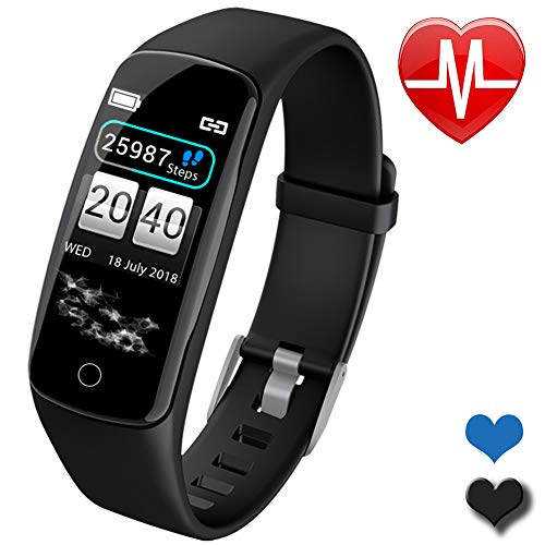 Fitness Trackers Men Smart Watch for Android iOS Phones Father's Day Activity Tracker Watch with Heart Rate Monitor Waterproof Smart Fitness Band with Step Calorie Smart Sports Watch Gifts for ()