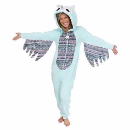 Secret treasures Women's Owl character sleepwear adult one piece costume union suit pajama(Size : XL)Color : Mint Zest Owl Mint Zest Owl ()