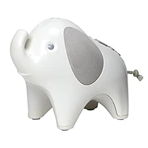 Skip Hop Moonlight & Melodies Nightlight Soother, Elephant, White