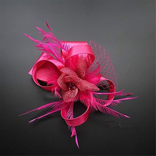 Peinado Feather Satin Peinado Negro Fiesta Oro Hat Cena Luxury Noble Rojo Jockey Net Negro Fiesta Anuncios v4EwAE