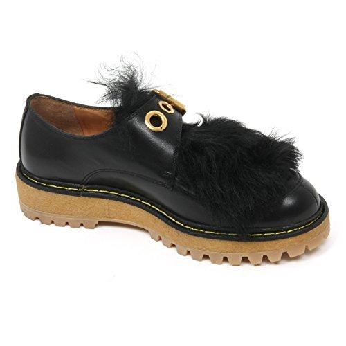 shoe scarpa woman CAR Nero nero scarpe pelo SHOE B9672 donna gqwBffv