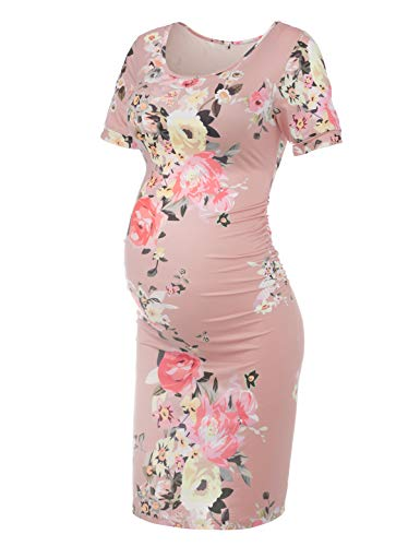 Musidora Maternity Dress, Pink XL (Maternity Pink Dress)