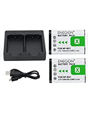 NP-BX1 ENEGON Battery (2-Pack) and Rapid Dual Charger for Sony NP-BX1, NP-BX1/M8 and Sony Cyber-shot DSC-RX100, DSC-RX100 II / III / V / IV, DSC-RX100M II, HDR-CX405