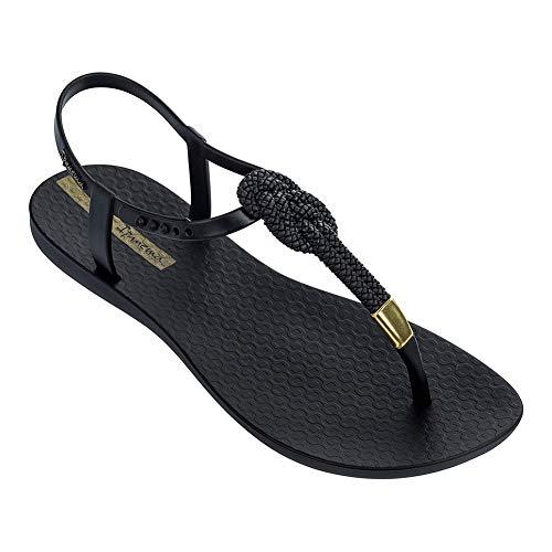 (Ipanema Women's Mara Knot T-Strap Sandals, Black, 10 M)
