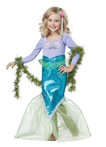 Seaweed Costumes Boa (California Costumes Magical Mermaid Costume, Multi, Toddler (3-4))