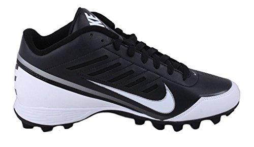 Nike Mens Land Shark 3/4 Fotboll Cleat Svart / Vit Storlek 11 Oss