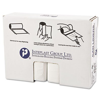Inteplast S334017N High-Density Can Liner, 33 x 40, 33gal, 17mic, Clear, 25/Roll, 10 Rolls/Carton