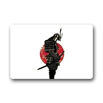 "Diseño de moda japonés Anime vacío Samurai traje Felpudo, para interior/exterior Felpudo 23.6""L x 15,7"" W"