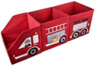 Red Firetruck Toy Organizer Storage Cubes – 3 Piece Set