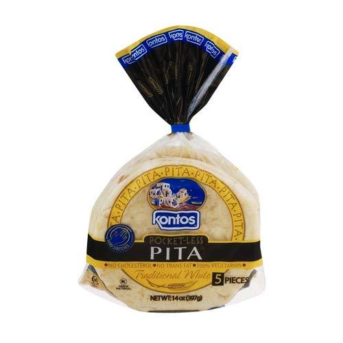 Kontos Pocket less Pita 14 oz, 5 Pieces (Pack of 3)