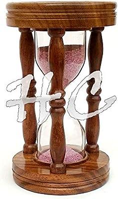 Hanzla Collection Brass Sand Timer Antique Marine Nautical Hourglass Desk Decor