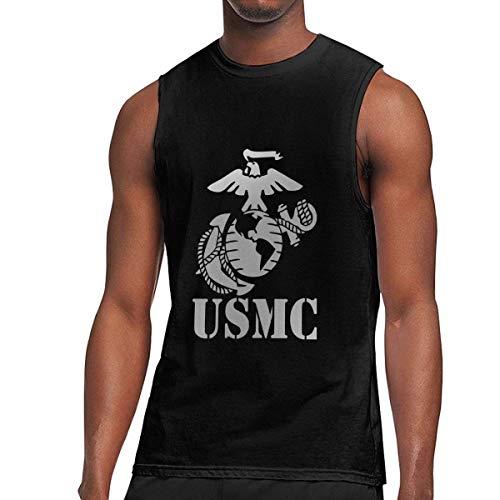 Mens Sleeveless T Shirts, Eagle Globe Anchor USMC Marine Corps Workout Tank Tops Gym Bodybuilding T-Shirts - Globe Marine Camo