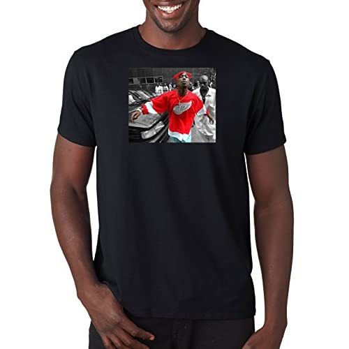 a0195549206e high-quality 2Pac Spitting T Shirt Hip Hop Tee Rap TuPac Shakur Music T-