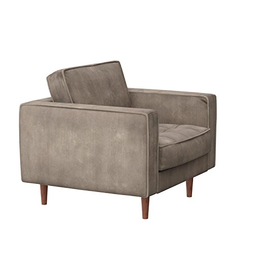 Rivet Aiden Tufted Mid-Century Modern Velvet Accent Chair, 35.4