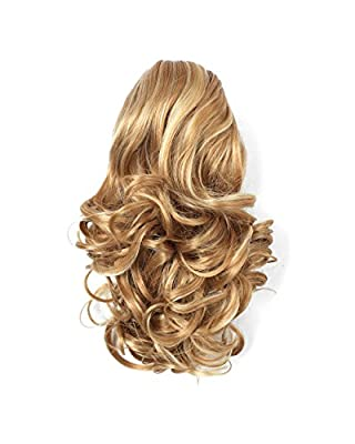 "OneDor® 12"" Curly Synthetic Clip In Claw Ponytail Hair Extension Synthetic Hairpiece 115g with a jaw/claw clip"