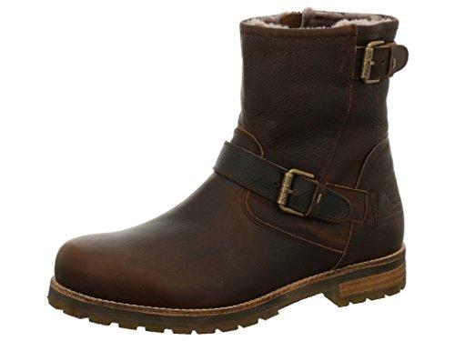 Panama Jack Mens PT152459 Warm lined biker boots half length Humo/Smoke IHh1BR1sk6