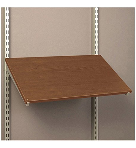 Pre Drilled Shoe Shelf - Organized Living FreedomRail Pre-Drilled Shoe Shelf, 30-Inch by 14-Inch, Chocolate Pear