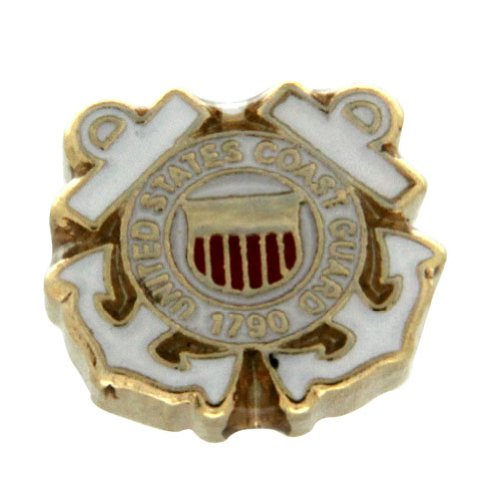 - Coast Guard Crest Shield Floating Locket Charm