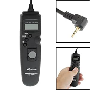 Aputure AP-TR1C LCD Cable Disparador Remoto a distancia para Canon EOS Canon EOS 1100D, 600D, 60D, 550D, 500D, 1000D, 450), 400D, 350D, 300D, Canon EOS 30, 33, 50, 50E, 300V, 300, 3000Éetc, Canon Powershot G10, G11, G12, G1X, Pentax K-5, K-7, K10D, K110D Super, K100D, K110D, K200, K20D, *istD, *istDS, *istDs, *ist, *istDS2, KR, KX, Pentax MZ-6, ZX-L, MZ-L, Contax N Digital, NX, N1, 645, Samsung GX 1L, GX 1S, GX-10